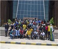 وفد من شباب أفريقيا يزور مدينة الإنتاج الإعلامي