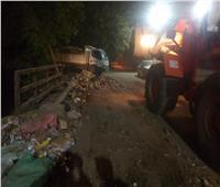 حملات مكثفة لإزالة اشغالات ورفع القمامة وصيانة أعمدة الانارة ساحل سليم