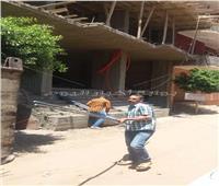 إيقاف أعمال بناء مخالف لعقارات بمدينة الحوامدية