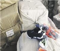 إحباط محاولة سائق لتهريب قرابة 300 حذاء رياضى غير خالصة الرسوم الجمركية
