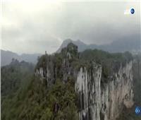 شاهد| غابة صخور عمرها 490 مليون عام بمنتزه «شينجونن» في الصين