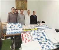 صور| ضبط 7408 عبوات أدوية صرع وإجهاض بمطار برج العرب