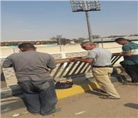 محافظ الجيزة يوجه بإصلاح الأسوار الحديدية لكوبري بالحوامدية