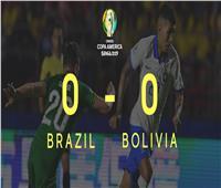 تعادل سلبي بالشوط الأول بين البرازيل وبوليفيا في افتتاحية كوبا