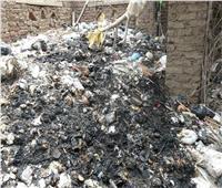 صور| أهالي قرية ساقية أبو شعرة بأشمون يناشدون بإزالة القمامة