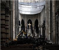 كاتدرائية نوتردام بفرنسا تقيم أول قداس بعد شهرين من احتراقها