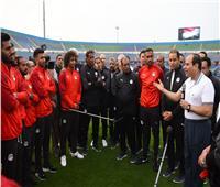 فيديو| رسالة الرئيس السيسي للاعبي منتخب مصر