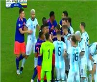 فيديو| «مقص» من لاعب كولومبيا لـ«ميسي» ..ومشاجرة بين اللاعبين