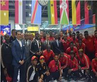 صور  وصول منتخب انجولا مطار القاهرة استعداداً لبطولة كأس الأمم الأفريقية