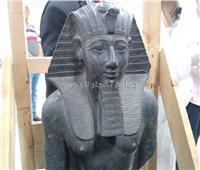بالصور والفيديو| الكشف عن تمثال «تحتمس الثالث» بمتحف الحضارة