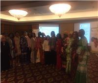 محافظ دمياط رئيسة شبكة النساء المحلية المنتخبة الأفريقية في مصر