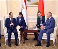 الرئيس السيسي يلتقي رئيس وزراء بيلاروسيا