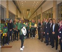 صور| منتخب جنوب أفريقيا يصل مطار القاهرة