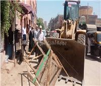 رفع الإشغالات بمدينة إخميم وحي شرق سوهاج