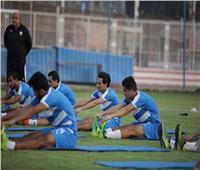 تدريبات بدنية قوية للاعبي الزمالك في مران الفريق