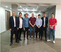 شوبير وسويلم يستقبلان مدير رابطة الدوري الإسباني