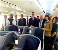 معرض باريس.. «مصر للطيران» تحتفل بانطلاق أولى رحلات طائرتها الجديدة