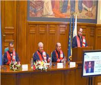 صور| كلمة الرئيس السيسي بعد منحه درجة الدكتوراه الفخرية من جامعة بوخارست