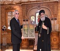 البابا تواضروس يستقبل سفير العراق بمقر الكاتدرائية المرقسية