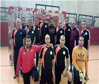 فوز فريق محافظة الجيزة للكرة الخماسية علي فريق مصنع 9 حربي