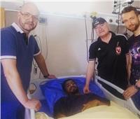 إسلام عبد النعيم لاعب الجونة يجري عملية «الصليبي»