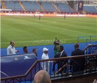أمم أفريقيا2019| وصول رئيس الاتحاد الأفريقي ملعب مباراة نيجيريا وبوروندي