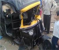 إصابة 3 أشخاص في انقلاب «توك توك» في بني سويف