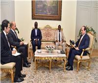 السيسي لمبعوث غينيا بيساو: نتطلع لتفعيل التعاون والتبادل التجاريبين البلدين