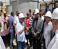 محلية النواب تتفقد محطة مياة رأس كاوتش بمركز كفر الدوار