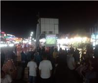 السائحون بشرم الشيخ يشاهدون المباراة ويشجعون المنتخب المصري