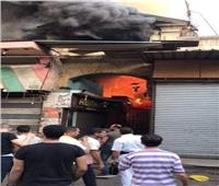 انتداب رجال المعمل الجنائي لفحص آثار حريق العتبة
