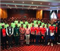 قرينة رئيس بوروندي تؤازر منتخب بلادها قبل مواجهة مدغشقر