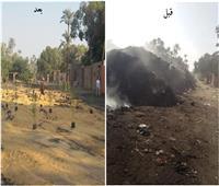 الجيزة ترفع 3800 طن مخلفات من منطقة مقابر أبو والى بالحوامدية