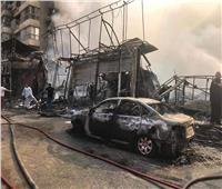 فيديو| لقطات من حريق محلات الهرم