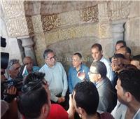 وزيرا الآثار والأوقاف ومحافظ الفيوم يفتتحون مسجد قايتباي الأثري |صور