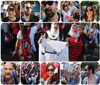حتى لا ننسى| حكاية 30 مشهد لفنانين مصر فى ثورة يونيو المجيدة