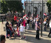 صور| الجالية المصرية بلندن تحتفل بذكرى السادسة لثورة 30 يونيو