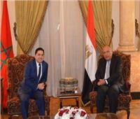 وزير خارجية المغرب يغادر القاهرة بعد لقاء «شكري»