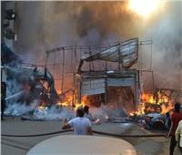 محافظ الجيزة يتفقد موقع حريق المركز التجاري بشارع العريش