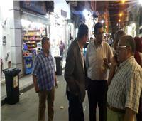 حملة مكبرة بوسط الإسكندرية لإزالة الإشغالات