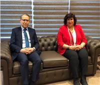 سفير مصر بلبنان يستقبل وزيرة الثقافة