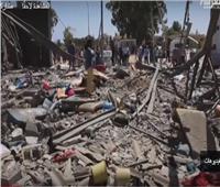 شاهد| لحظة استهداف مركز احتجاز المهاجرين في ليبيا