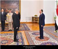 بالفيديو | الرئيس السيسى يشهد أداء اليمين لرئيسي محكمة النقض والنيابة الإدارية