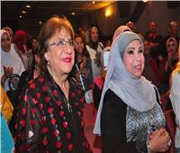 صور  سميحة أيوب ومديحة حمدي وسميرة عبد العزيز في صالون «مصر المبدعة»