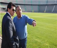 أمم إفريقيا 2019| وزير الرياضة يتفقد ستاد القاهرة قبل مباراة مصر وجنوب إفريقيا
