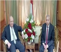 وزير العدل يهنئ رئيس هيئة النيابة الإدارية الجديد