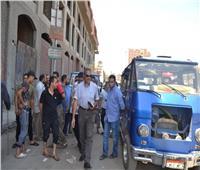 رئيس مدينة شبرا الخيمة يتفقد مواقف سيارات الأجرة
