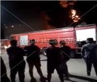 فيديو| الدفع بـ10 سيارات إطفاء للسيطرة على حريق كنيسة الأنبا بولا