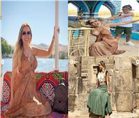 صور| بعد زيارة راموس للغردقة .. زوجة نجم برشلونة في إجازة صيفية بأسوان
