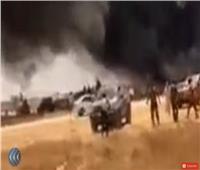 فيديو| اللقطات الأولى لمحاولة إغتيال قائد القوات الخاصة الليبية بسيارة مفخخة